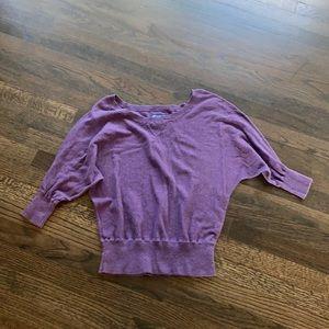 American Eagle Purple Short Sleeve Sweater L GUC